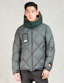 UNDERCOVER Charcoal Hooded Down Jacket Picture