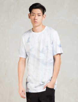 STAMPD White S/S White Wash Printed T-Shirt Picture