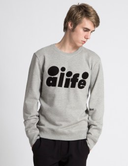 ALIFE Heather Grey Chainstitch Sweater Picture
