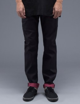 Naked & Famous Indigo Red Weft Stretch Selvedge Super Skinny Guy Jeans Picture