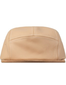 Hender Scheme Natural Jet Cap Natural Tanning Cow Leather Picture