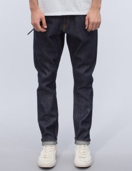 Denim by Vanquish & Fragment Non-Washed Tapered Denim Jeans Picture
