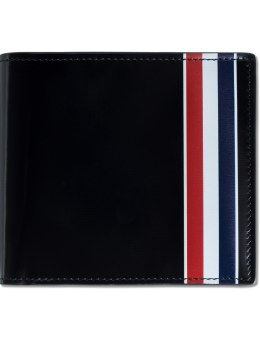 THOM BROWNE Calf Leather Billfold Wallet with RWB Printed Stripe Picture