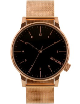 KOMONO Rose Gold/black Winston Royale Watch Picture