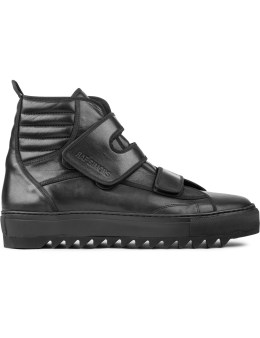 Raf Simons High Top Velcro Sneaker On Extreme Sole Picture