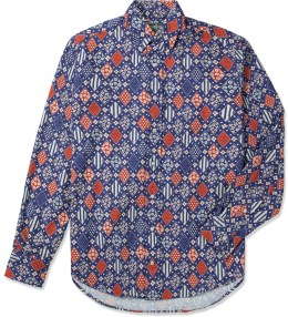Gitman Bros. Vintage Navy Multi Print Vintage Button Down Shirt Picture