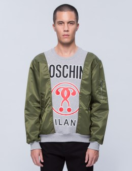 MOSCHINO Multi Fabric Patch Sweatshirt Picture