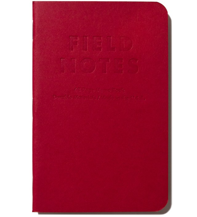 Field Notes Red Blooded 3-Pack Pocket Graph Paper