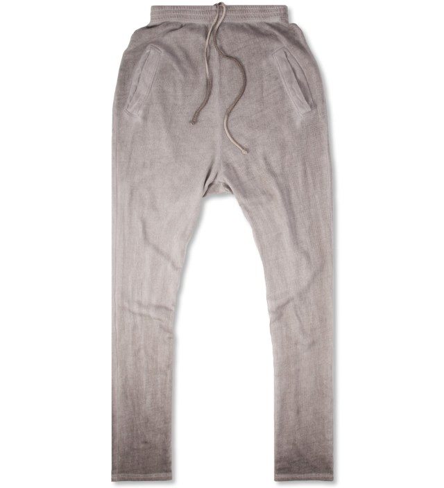 SILENT DAMIR DOMA Grey Washed Silent Pujo Heavy Jersey Pants