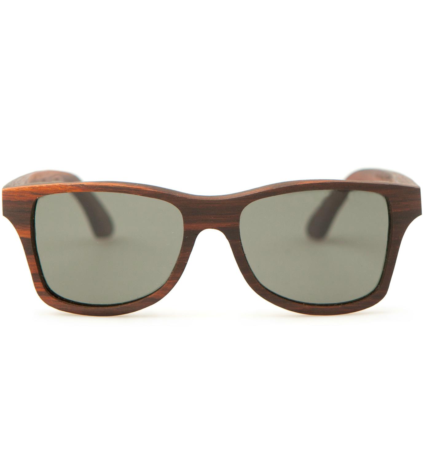 Shwood Canby East Indian Rosewood Polarized Grey Sunglasses