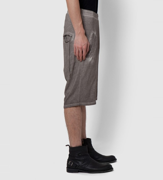 SILENT DAMIR DOMA Grey Washed Silent Porss Heavy Jersey Shorts