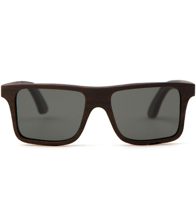Shwood Govy East Indian Rosewood Polarized Grey Sunglasses
