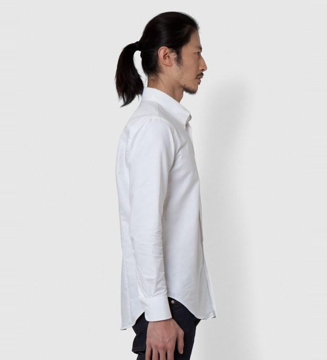 Naked & Famous White Oxford Slim Shirt