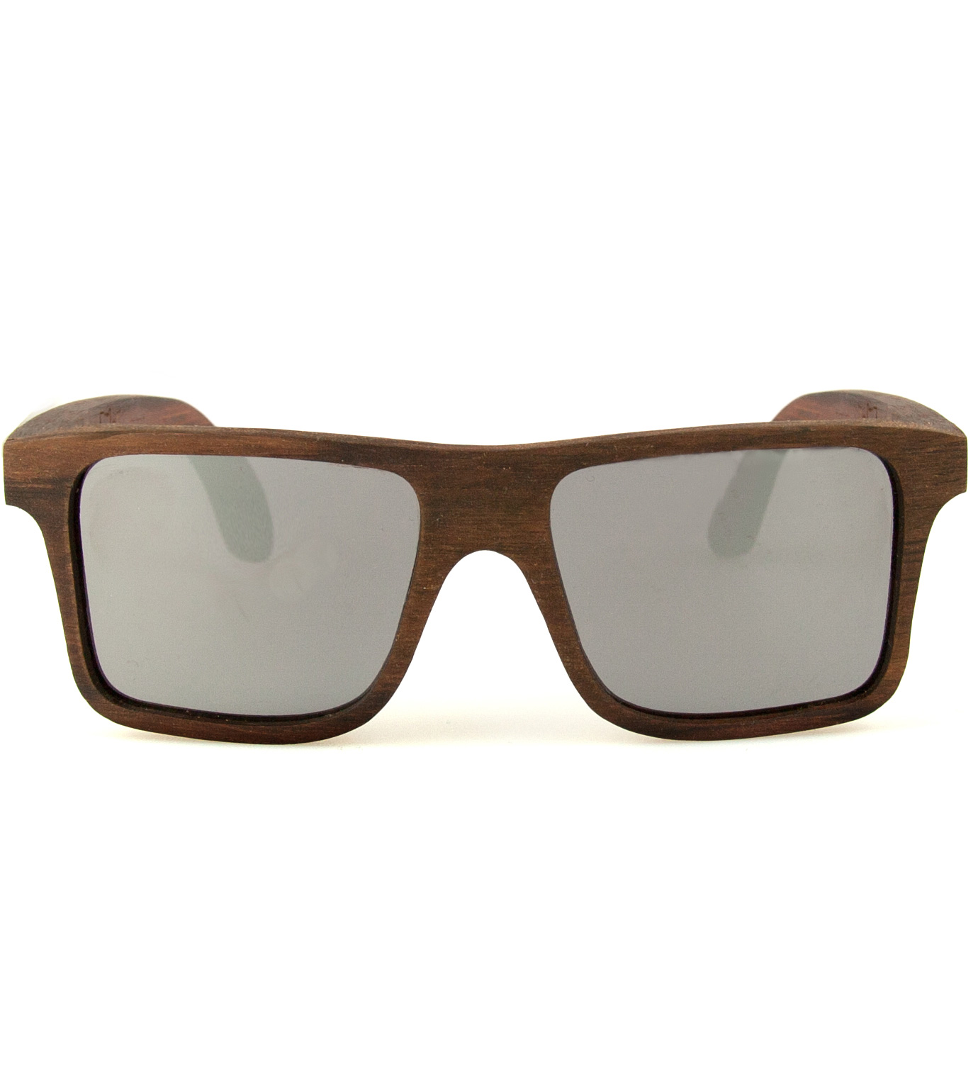 Shwood Govy East Indian Rosewood Mirrored Grey Sunglasses