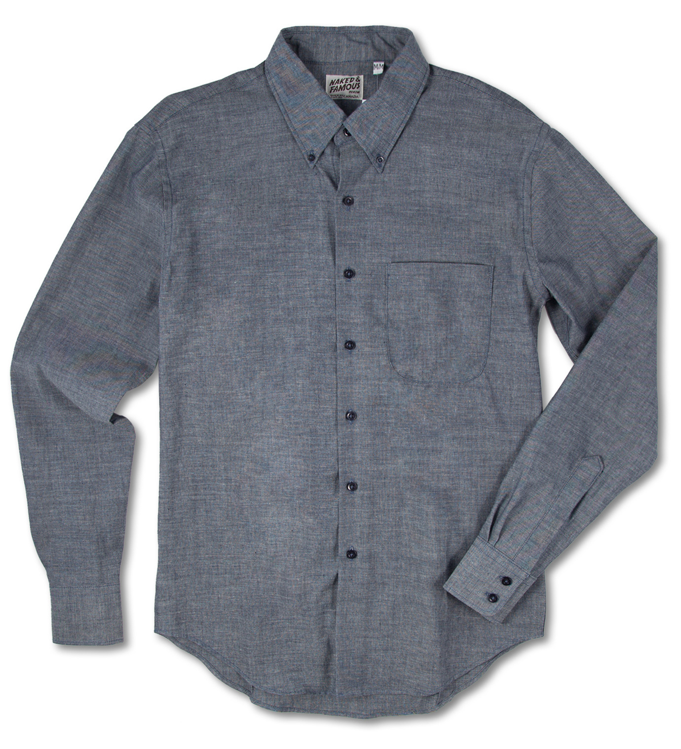 Naked & Famous Lightweight Chambray Slim Shirt