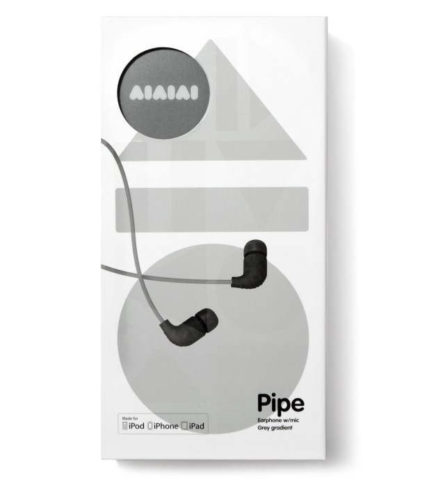 AIAIAI Grey Pipe Earphones