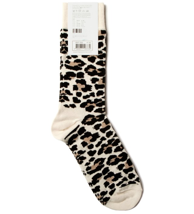 Happy Socks White/Black Leopard Socks