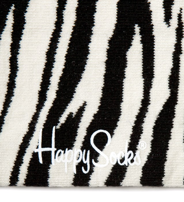 Happy Socks White/Black Zebra Socks