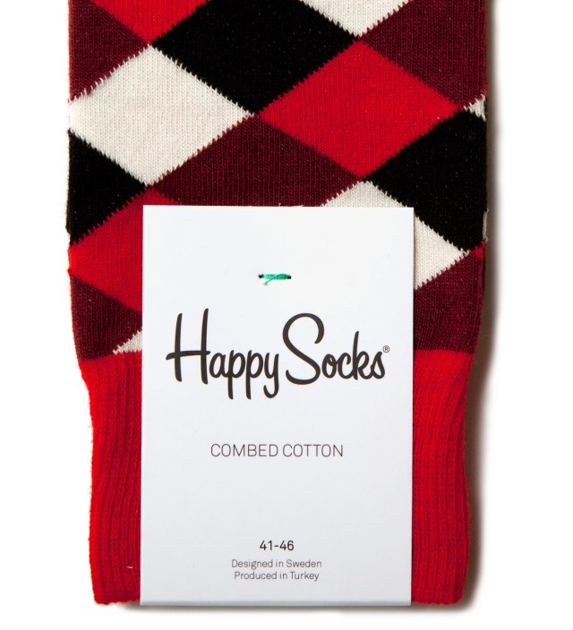Happy Socks Square Pattern Socks