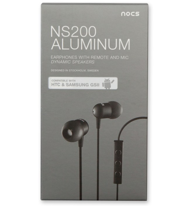 Nocs Black NS200 Aluminum Android Earphones