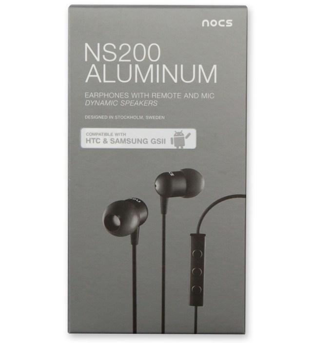 Nocs Black NS200 Aluminum Android Earphones