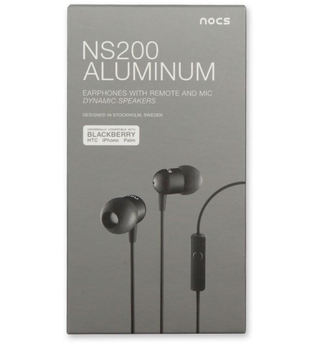 Nocs Black NS200 Aluminum Universal Earphones