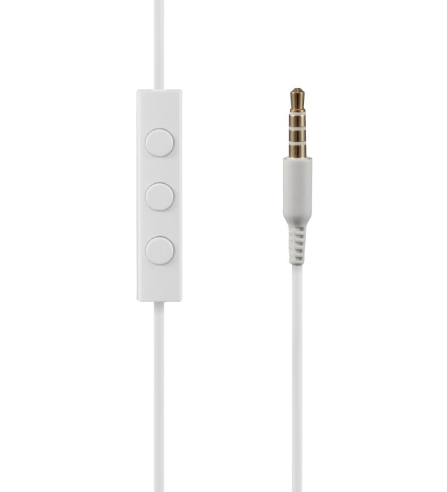 Nocs White NS200 Aluminum iOS Earphones