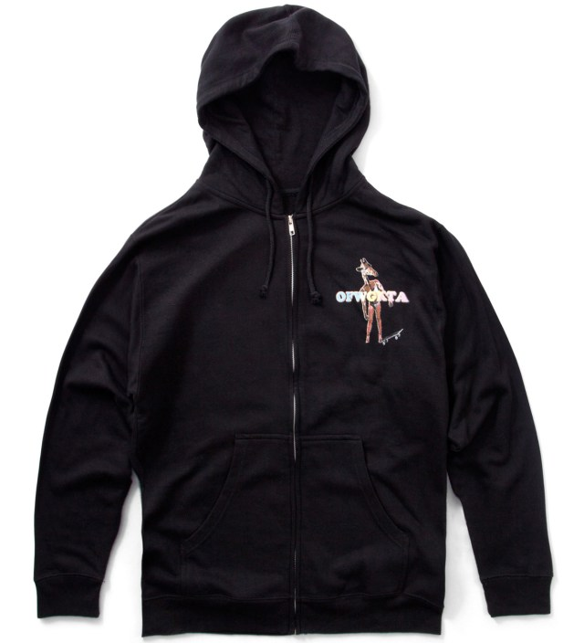 Odd Future Black Giraffe Zip Up