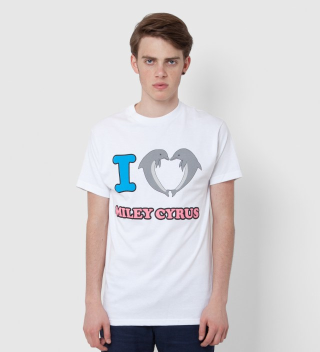 Odd Future White Jasper Dolphin Heart Miley T-Shirt