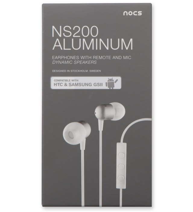 Nocs White NS200 Aluminum Android Earphones
