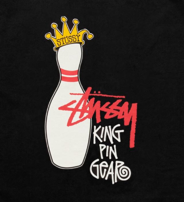 Stussy Black King Pin Gear T-Shirt