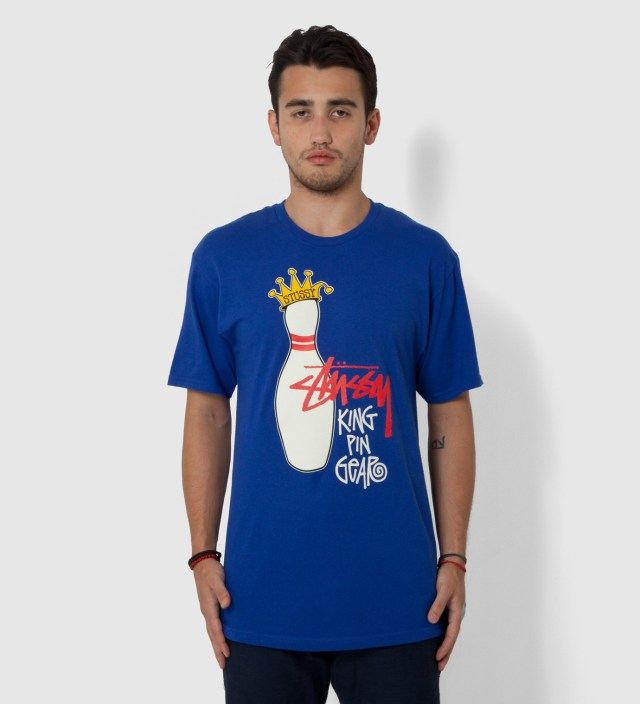 Stussy Blue King Pin Gear T-Shirt