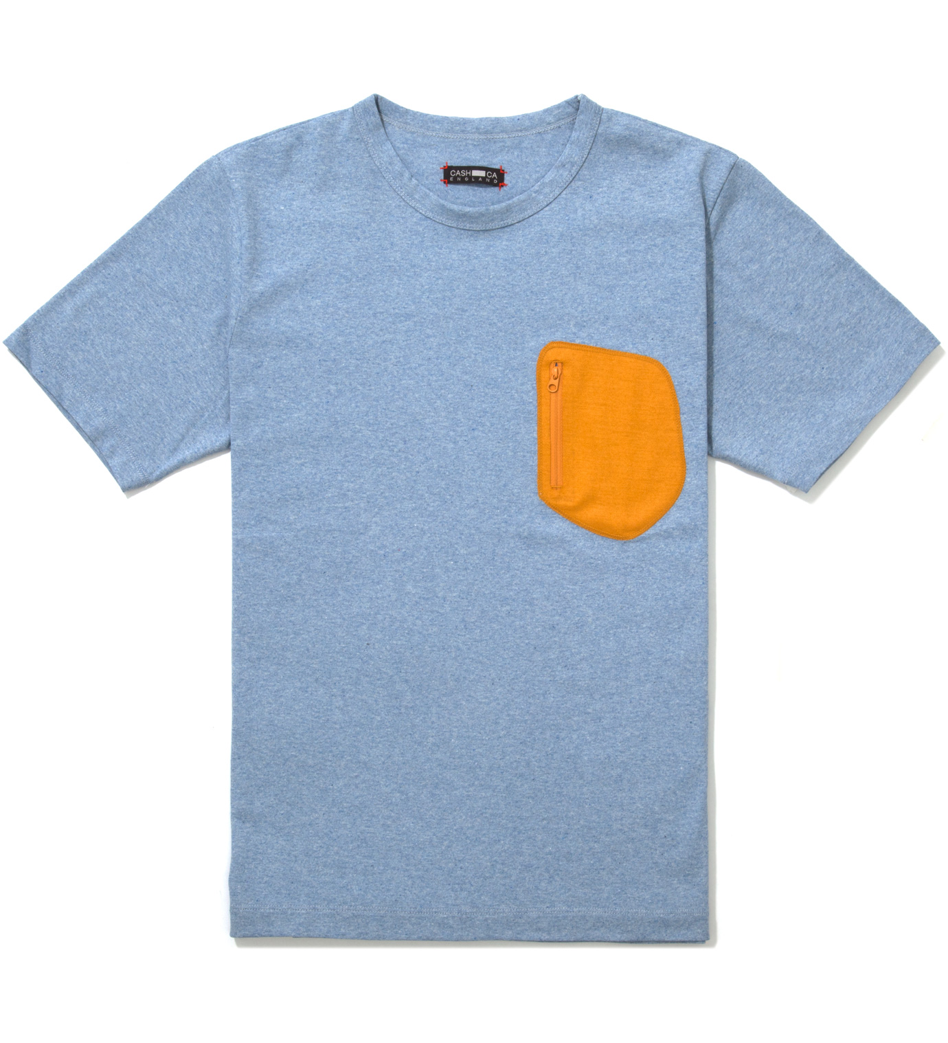 CASH CA Blue Wool Pocket T-Shirt