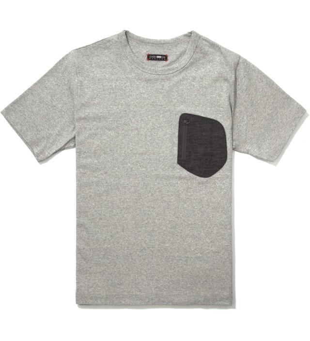 CASH CA Grey Wool Pocket T-Shirt