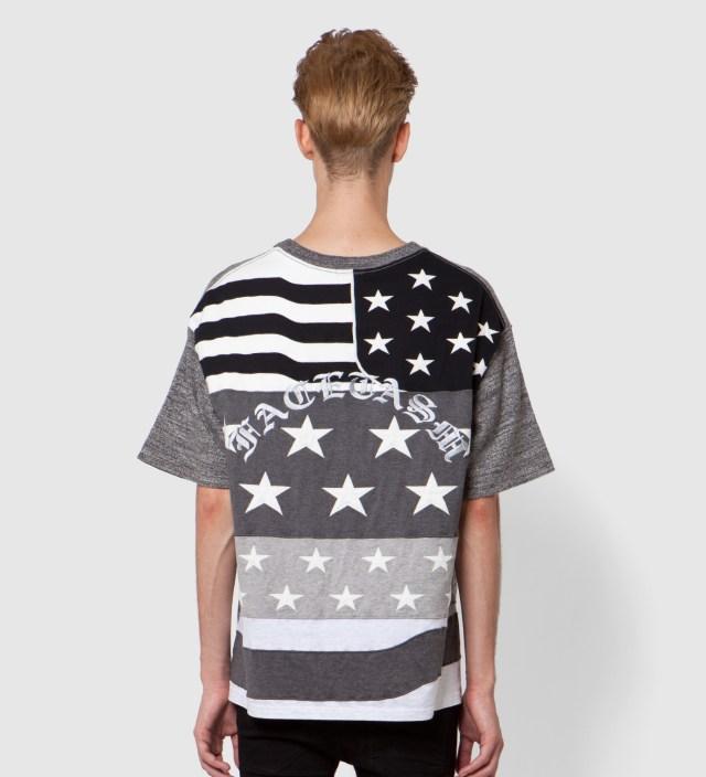 FACETASM Charcoal x Monochrome Stars And Stripes Big T-Shirt