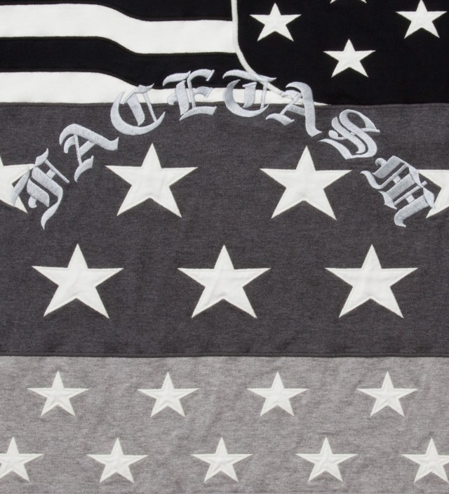 Facetasm Charcoal x Monochrome Stars And Stripes Big T-Shirt