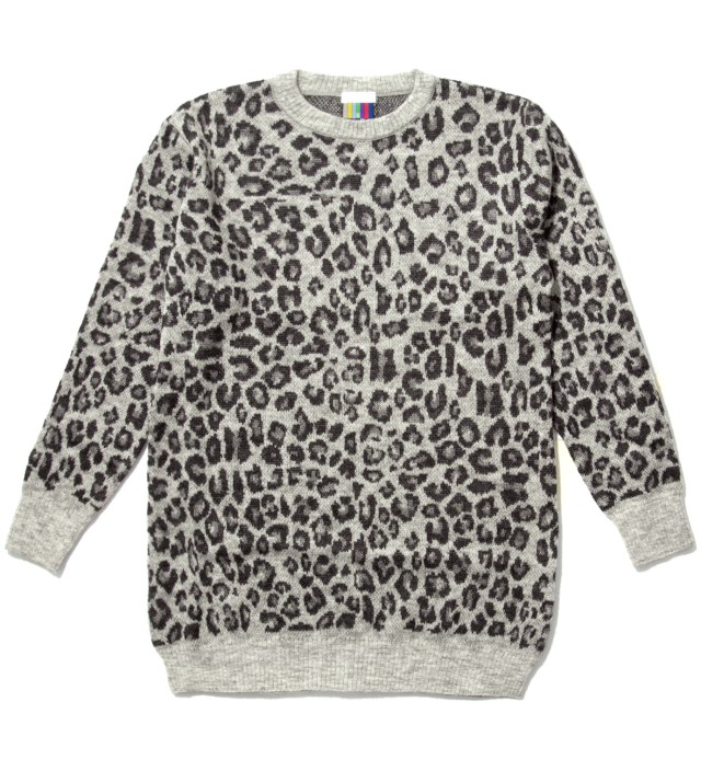 FACETASM Grey Leopard Long Sweater