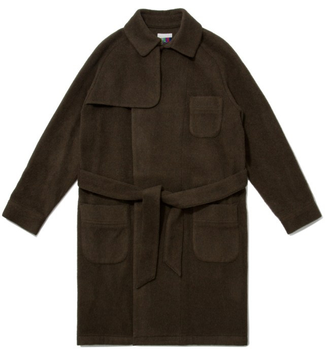 FACETASM Olive Trench Gown Jacket