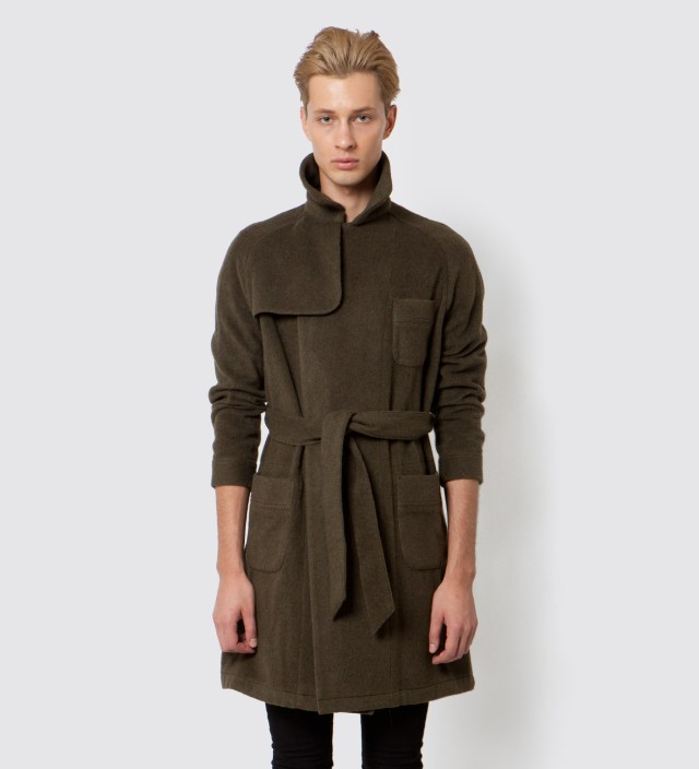 FACETASM Olive Trench Gown Jacket