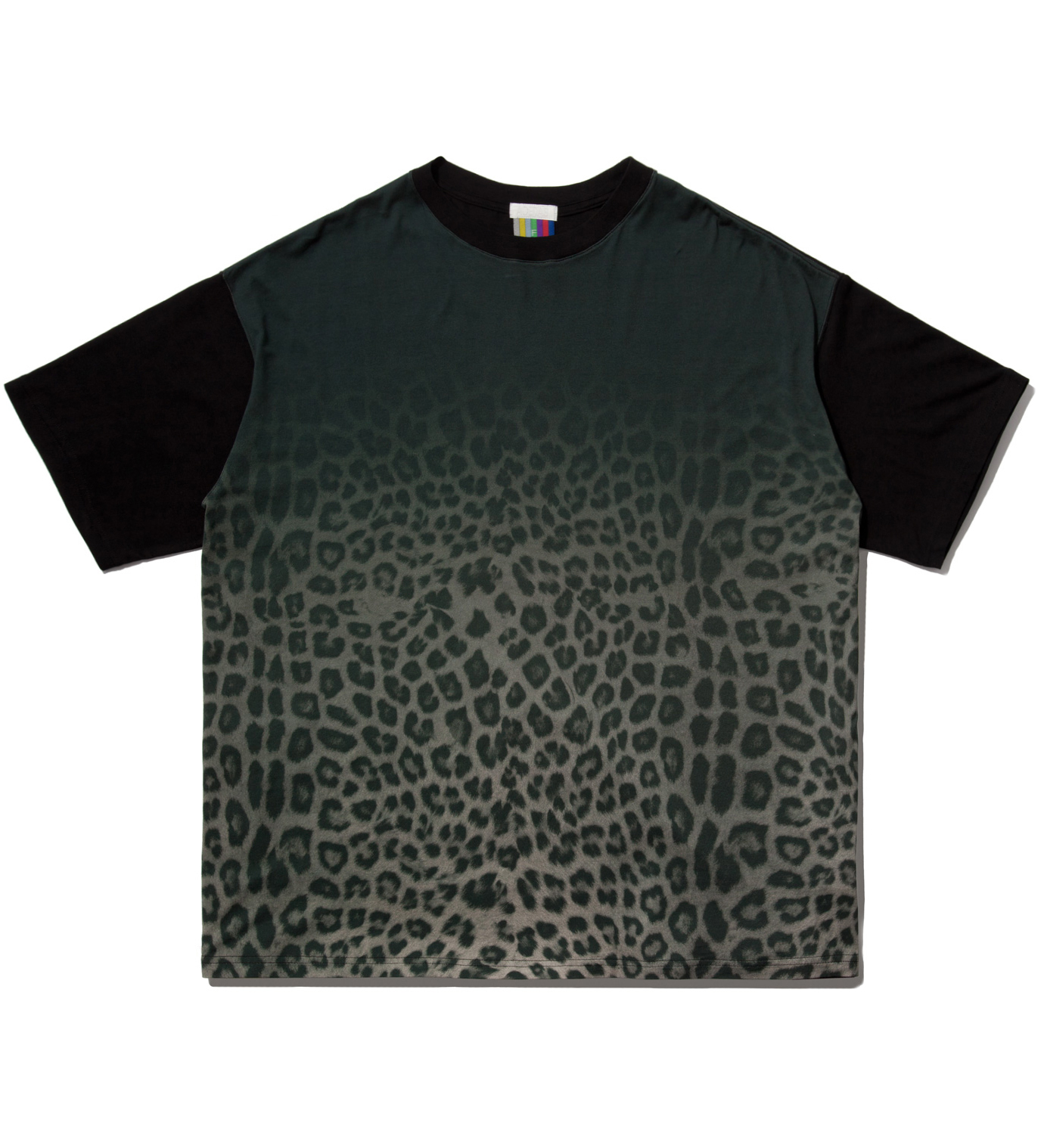 FACETASM Grey Leopard Big T-Shirt