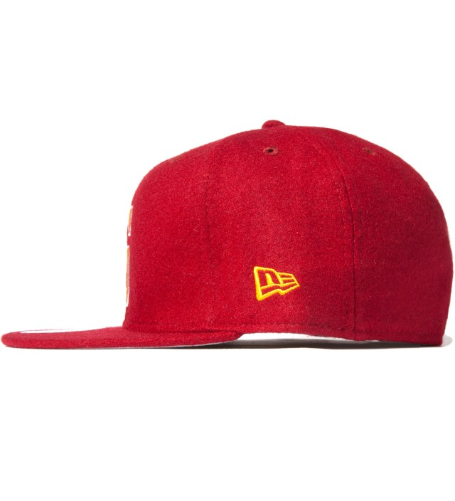 Stussy Burgundy Melton S New Era Ballcap