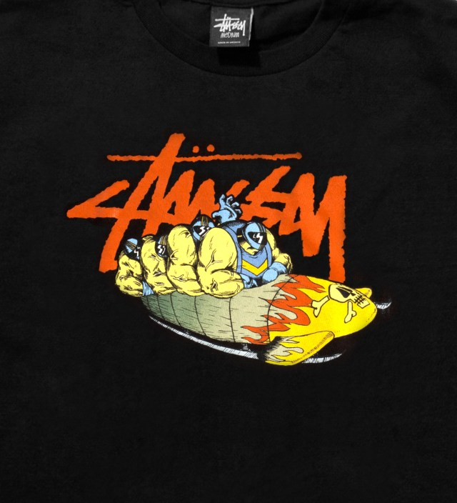 Stussy Pierre Bolide x Stussy Black Bobsled T-Shirt