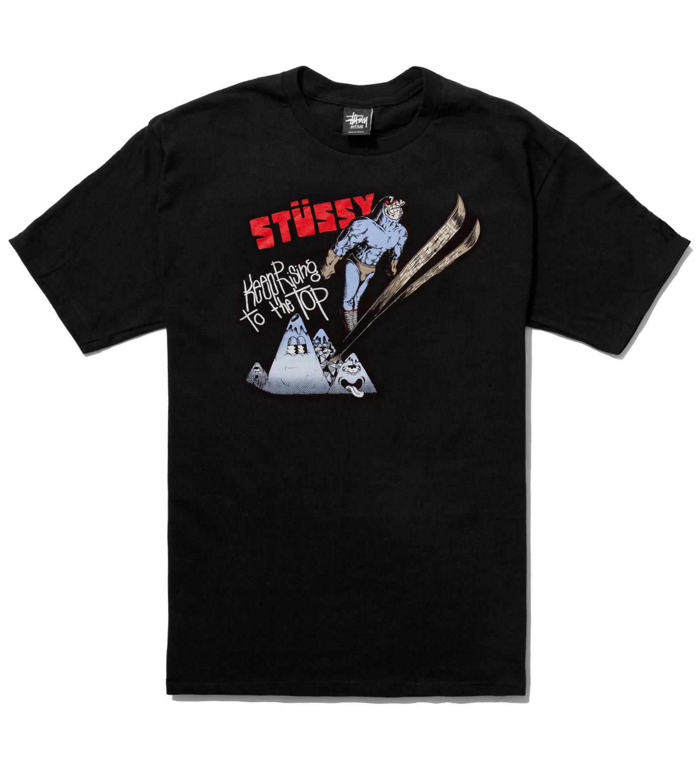 Stussy Pierre Bolide x Stussy Black Ski Jump T-Shirt
