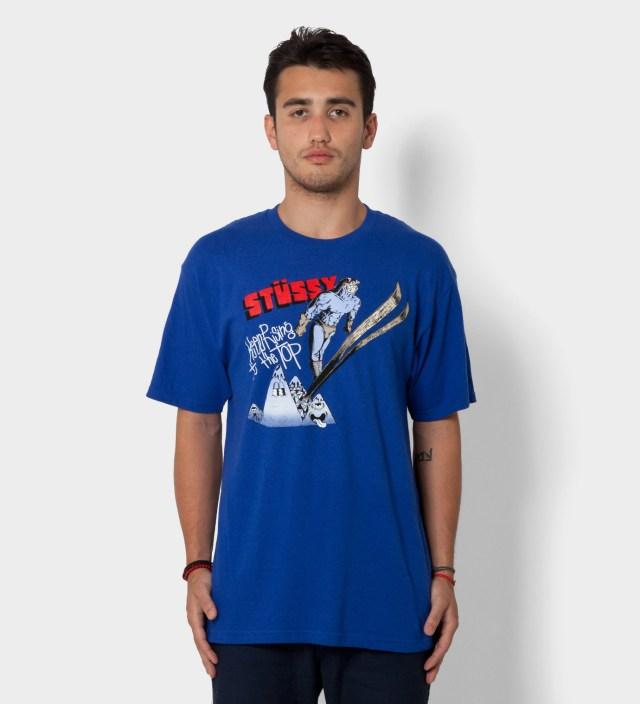 Stussy Pierre Bolide x Stussy Royal Blue Ski Jump T-Shirt