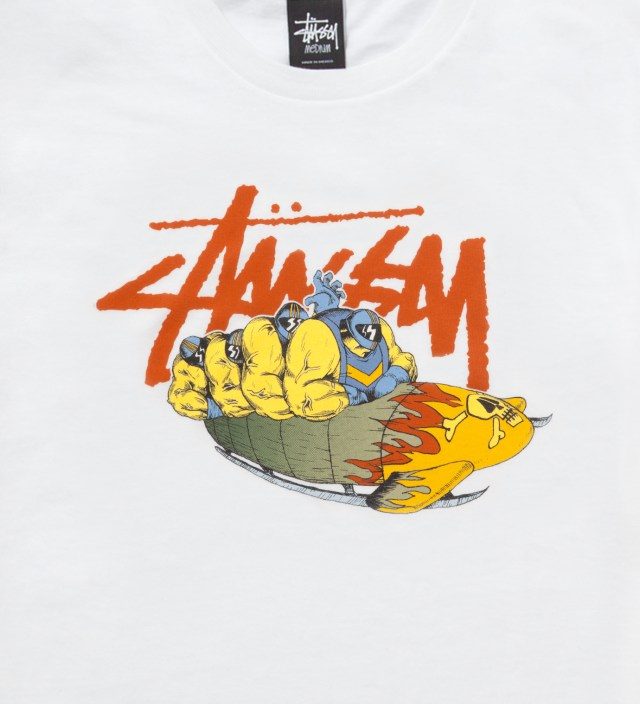 Stussy Pierre Bolide x Stussy White Bobsled T-Shirt