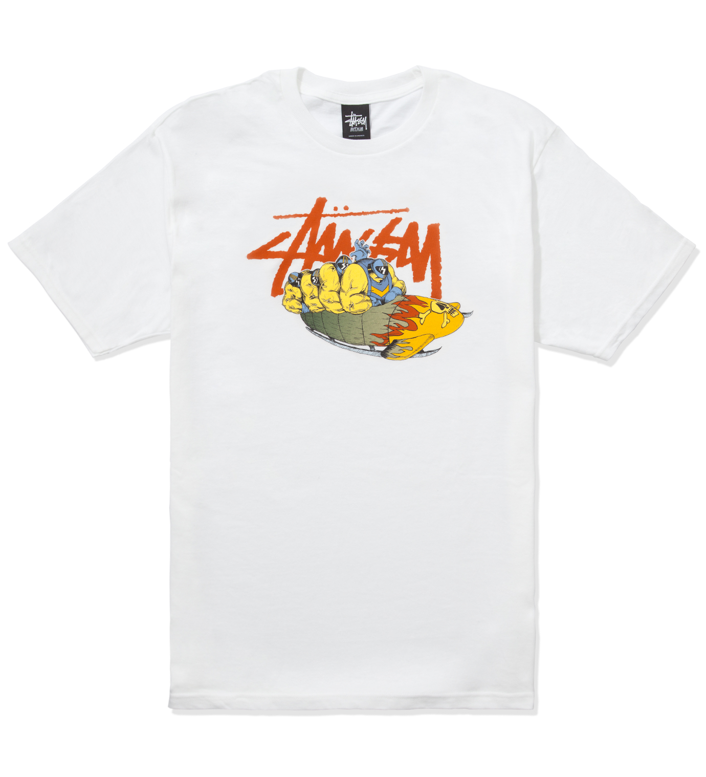 Stussy Pierre Bolide x Stussy White Bobsled T-Shirt