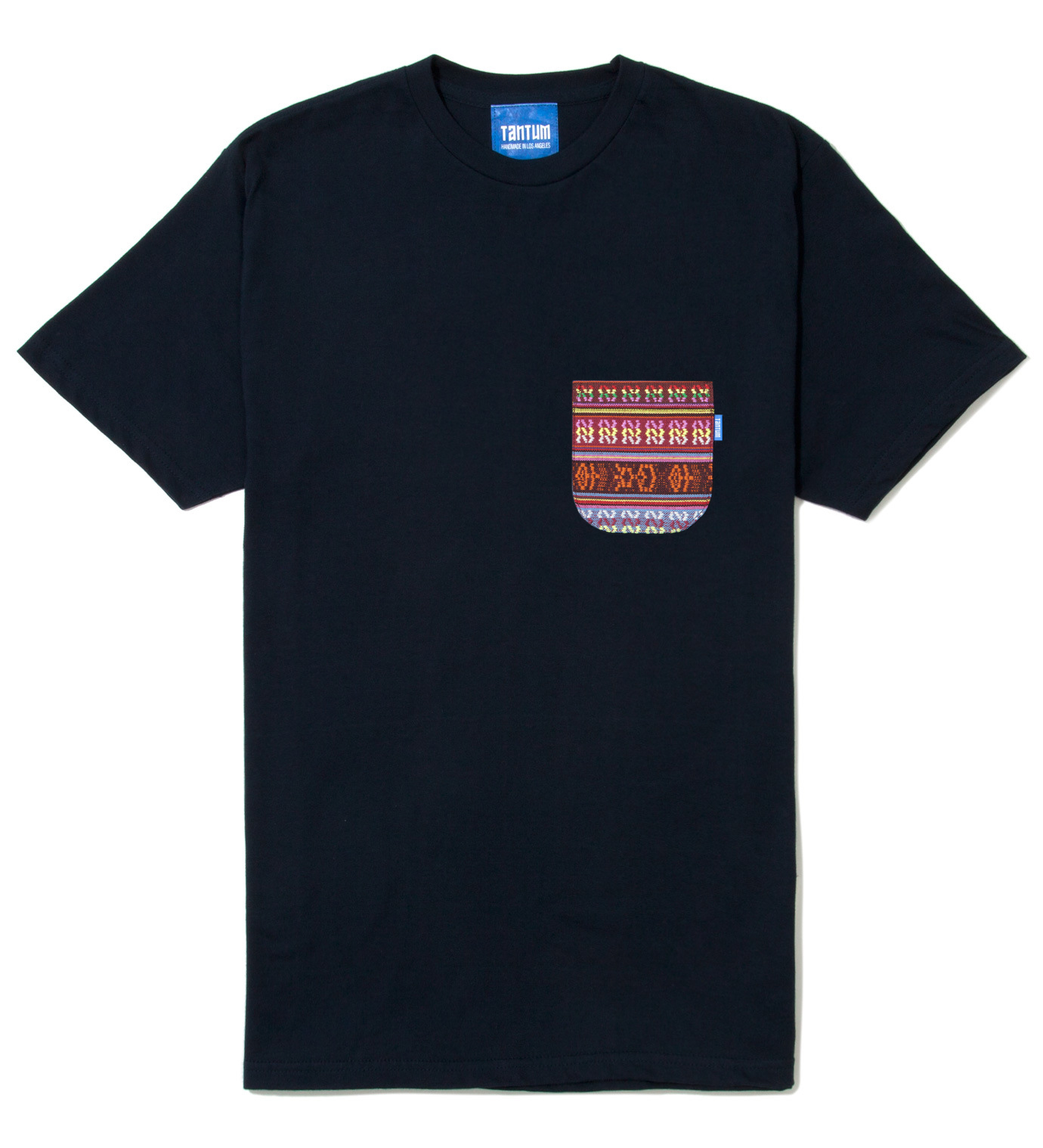 Tantum Navy Blue South African Tribe Pocket T-Shirt