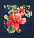 Tantum Navy Blue Hawaiian Print Pocket T-Shirt