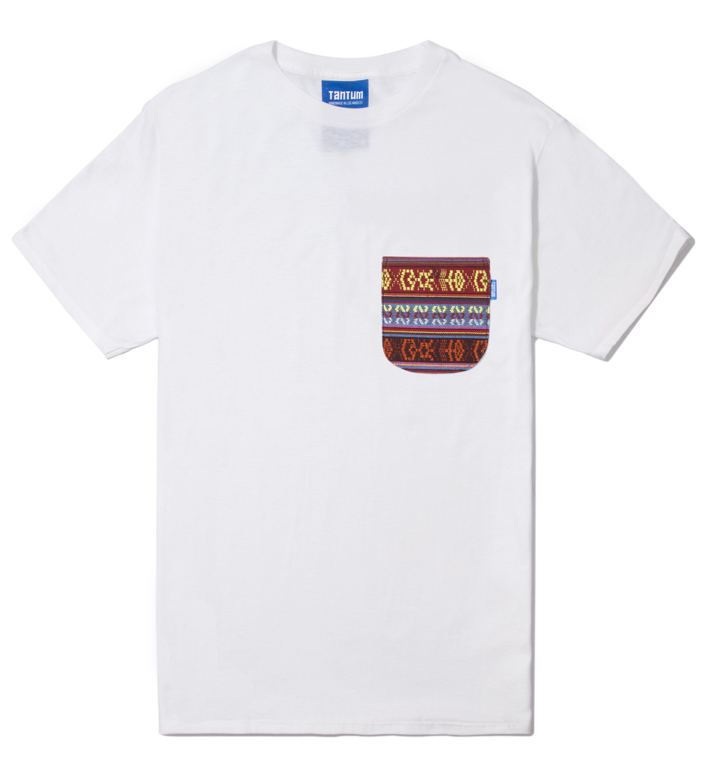 Tantum White South African Tribe Pocket T-Shirt