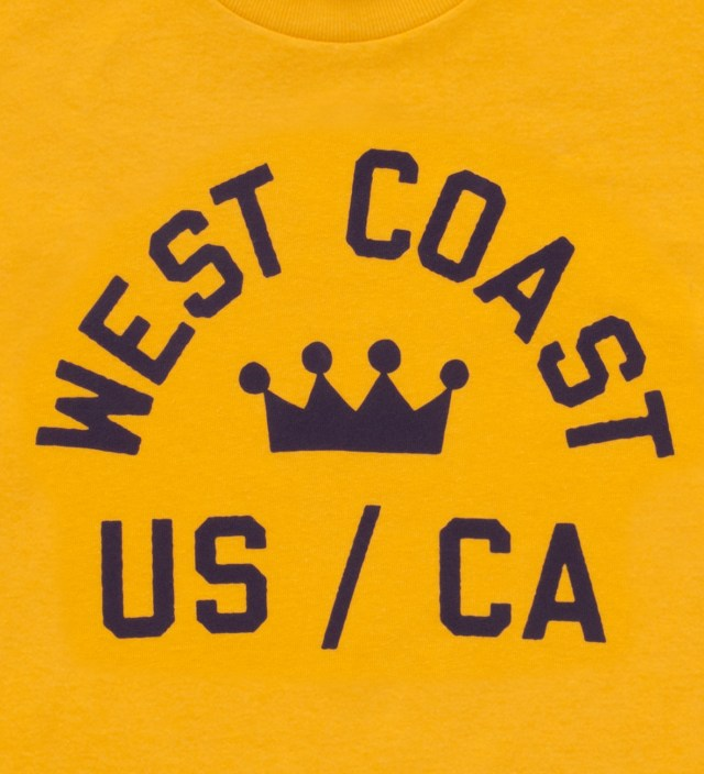 Stussy Yellow West Coast T-Shirt